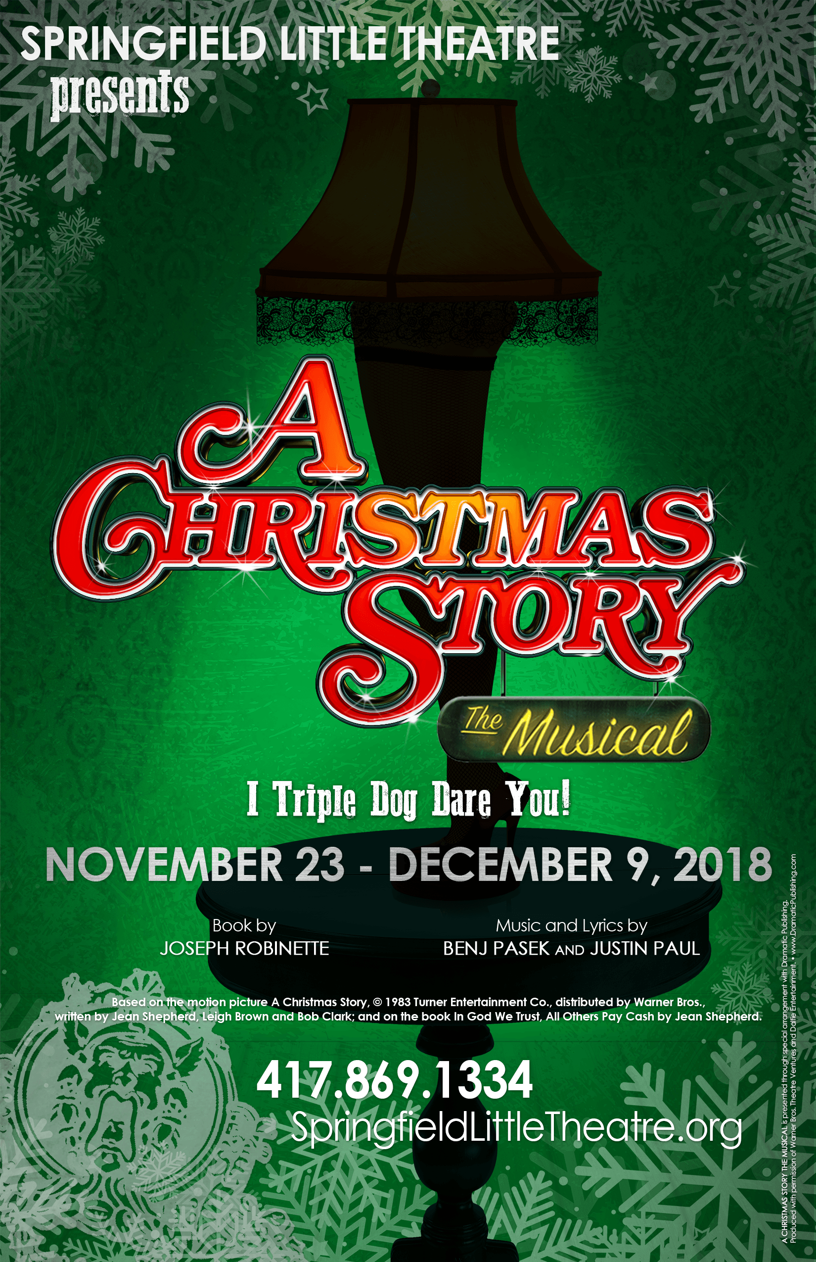 A Christmas Story The Musical Audition Notice