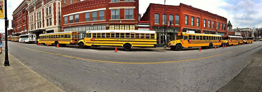 yellow busses