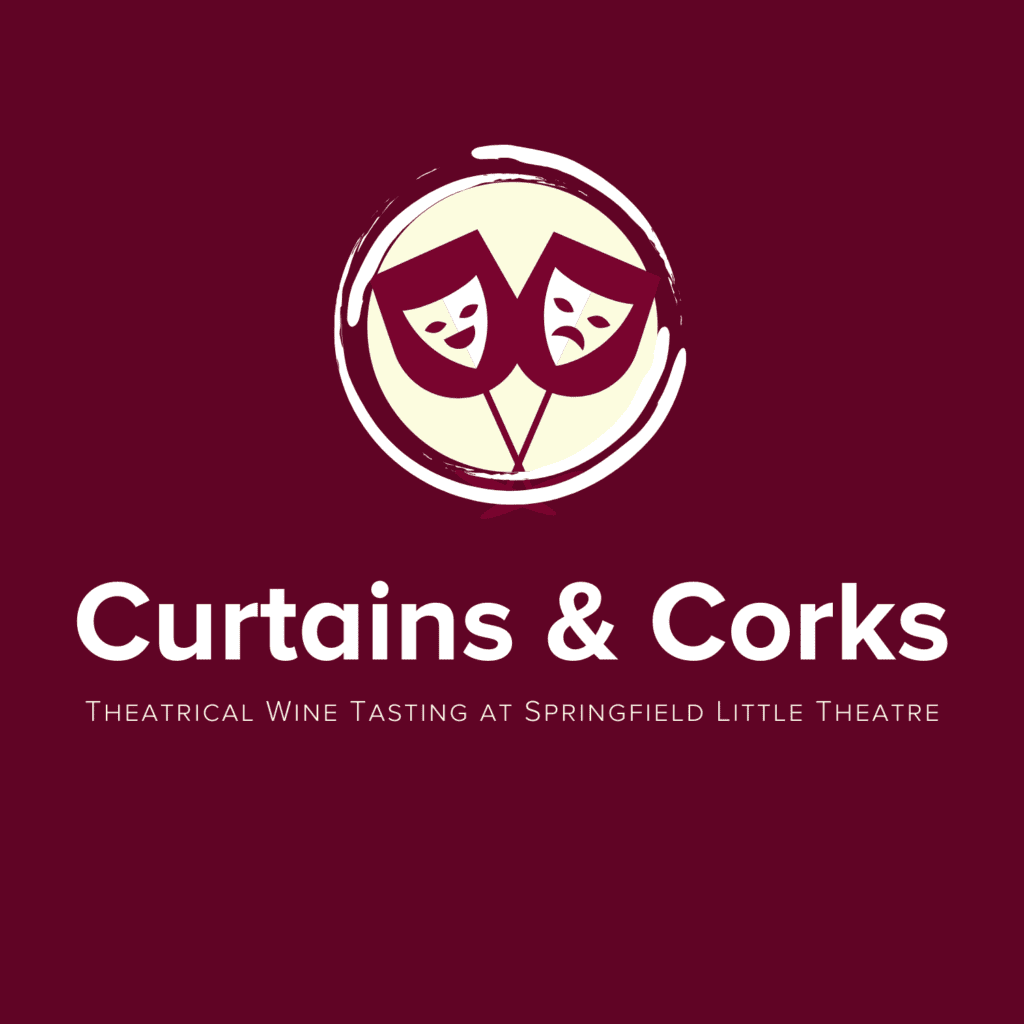 Curtains & Corks Logo